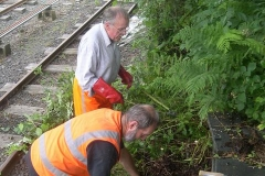 Before long, a start is made on the vegetation immediately south of the Signal Box …