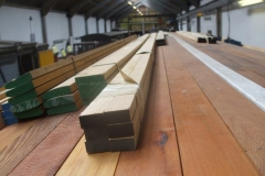 … as timber seat sections for the carriage are delivered and stored …