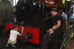 … before moving to its normal position in the Engine Shed, where more hands can be got to it (under close supervision)!
