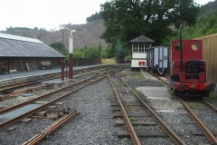 … while Trefor is coming up the hill with No. 6 and the passenger stock.