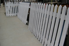 … as more fence panels are primed.