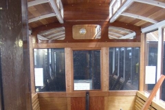 … removing windows from carriage No. 22 for re-sealing.
