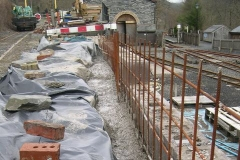 … with the wall now effectively finished apart from the capping and facing – to be completed on another day!