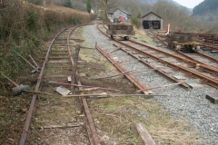 Saturday, 27.2.16. A number of sleepers on the Upper Corris branch siding headshunt have been replaced …