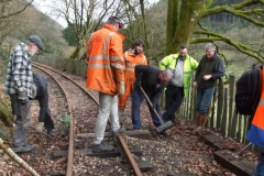 … with a good gang of volunteers replacing sleepers …