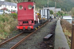 Saturday, 2.3.2019. A works train is in Corris …