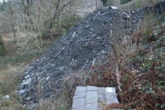 Southern Extension. Pont y Goedwig Deviation Project. Tuesday, 26.2.2019. The material dumped from the BETWS (Bont Evans Tree Works and Soil Stabilisation) Project approach Pont y Goedwig …