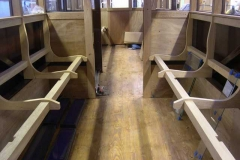 (March) Seat frames, clerestory glass.