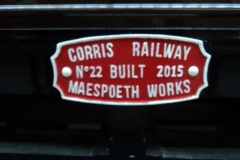 (August) Works plate. Plates will be fitted to other carriages in due course.