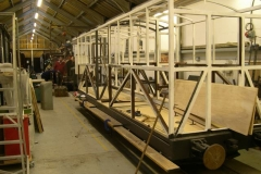 (January) Body frame ready for panelling.
