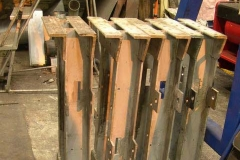 (June) Bogie stretchers ready for addition of brake parts.