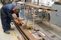 (November) Marking out steel for under frame.