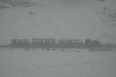 A ghost train ? The weather approaches white-out.