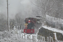 The Up train approaches Maes-y-Llan Bank...