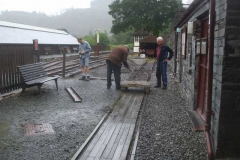 Tuesday, 17.8.2021. Tony, Dick and Bob pause after moving steel sections around ...