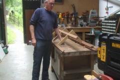 ... to trim the pre-fabricated longitudinal seat to length ...