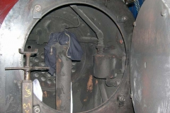 Later, the smokebox is emptied of hardware …