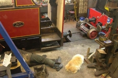 Sunday, 18.12.2016. Trefor and Billy relax after extracting the trailing truck from No. 7 ...