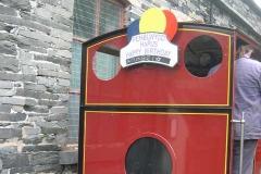 Anabel has a Birthday Train Headboard!