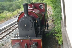 Sunday, 20.7.14. The air pump on No. 7 builds up pressure outside the Signal Box.