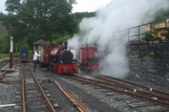 … followed by blowing down the boiler.