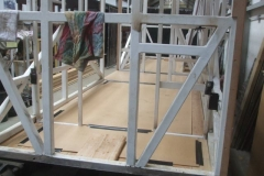 … so that the floor can be covered in hardboard to protect it during the next stages of construction.