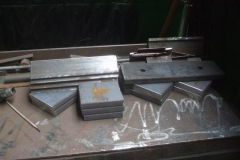 … with a range of parts cut ready for assembly as horn guides …