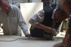 More panels are being cut for carriage No. 24 …