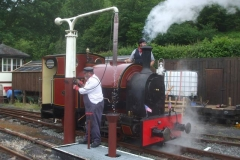 Unusually, in disposing of the locomotive, No. 7 takes water on the loop line …