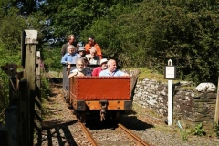 At the conclusion of the meeting, a few intrepid soles sample the delights of the gravity train!