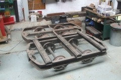 The waggon chassis were moved back down the shed, ready to be put under carriage No. 24 in due course …