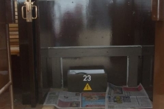 … he has started the remaining painting work within the vestibule of carriage No. 23.