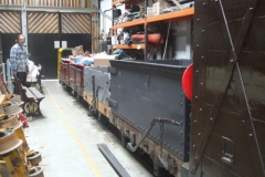 "All the ""restored"" Heritage waggons are now all together."