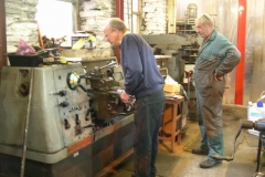 Also, Chris and Bob work on one lathe …