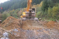 This allows the excavation of the new track formation to commence …