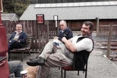 Even the Corris volunteers need a lunch break...