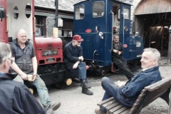 ...with Nos. 5 & 6 parked outside the Engine Shed to give maximum room and light for working on No. 7.