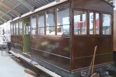 By the end of the (welding free!) day, both handrails (as well as the vestibule rail) have been fixed to carriage No. 23.