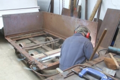… different positions, here (temporarily) on a separate waggon chassis.