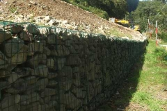 ... and perhaps this photo illustrates how far the embankment has come up - but there is still a long way to go!