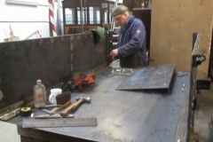 … and Adrian has made good progress with adding previously fabricated sides to the floor of waggon No. 5 …