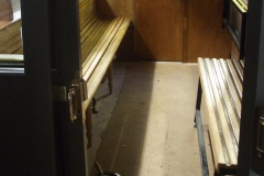 Meanwhile, the inside of the north compartment of carriage No. 23 (including seats) has received a second coat of varnish …