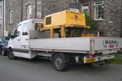 In Corris, there are two vehicles with P-Way equipment loaded – but not for us!