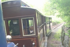 Returning from  Corris, Dave tests the ride in No. 22.