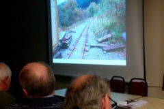 ...and finished off with a slide presentation by Richard Foyn explaining the targets for the railway to extend South.