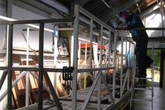 …more steel work to the body shell of carriage No. 23.