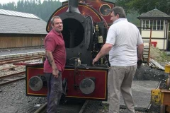 …while Trefor empties the boiler of No. 7 outside …