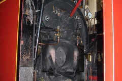 Thursday, 18.9.14. By the next day, the loco was back in the shed with all firebars and drain plugs removed.