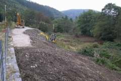 Wednesday, 21.9.2016. Richard gives the slopes a trim with the small excavator …