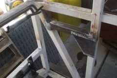 Thursday, 22.4.2021. Adrian has added fresh steel to the frames of carriage No. 24 to the directions of Andy …